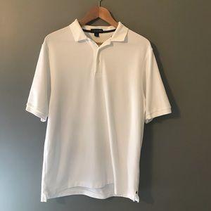 Land's End. Men's Polo Shirt L Color White